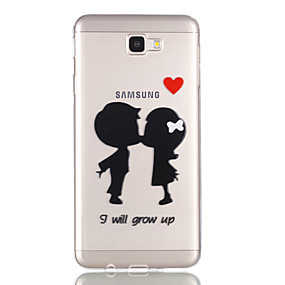 voordelige Galaxy J3 Hoesjes / covers-hoesje Voor Samsung Galaxy J7 Prime / J7 (2016) / J5 Prime Transparant / Patroon Achterkant Hart Zacht TPU