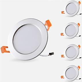 billige Downlights-5pcs 5 W 500 lm 10 LED Perler Let Instalation Forsænket Downlights LED nedlys Varm hvid Kold hvid 85-265 V Hjem / kontor Børneværelser Køkken / 5 stk. / RoHs / CE