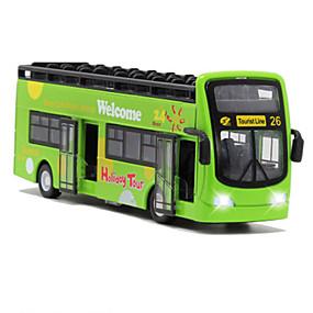 baratos Carrinhos de Brinquedo & Miniaturas-Carros de Brinquedo Ônibus Ônibus Clássico Simulação Música e luz Clássico Unisexo Para Meninos Para Meninas Brinquedos Dom