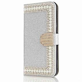 voordelige Galaxy S7 Edge Hoesjes / covers-hoesje Voor Samsung Galaxy S8 Plus / S8 / S7 edge Portemonnee / Kaarthouder / Strass Volledig hoesje Hard
