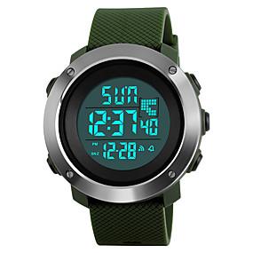 ieftine Ceasuri de Marcă-SKMEI Bărbați Ceas Sport Ceas Militar Ceas de Mână Japoneză Digital Piele PU Matlasată Negru / Verde / Gri 50 m Rezistent la Apă Alarmă Calendar Piloane de Menținut Carnea Modă - Negru Gri Verde Doi