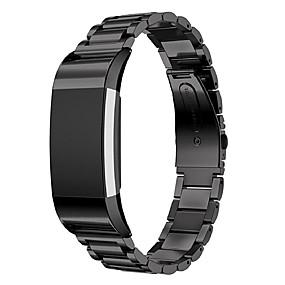 economico Cinturini per Fitbit-Cinturino per orologio  per Fitbit Charge 2 Fitbit Cinturino sportivo Acciaio inossidabile Custodia con cinturino a strappo