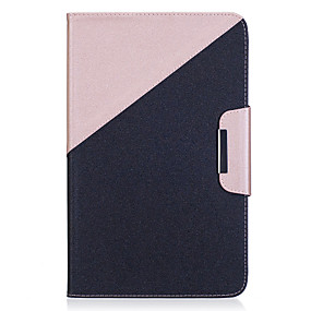 Недорогие Чехлы и кейсы для Galaxy Tab A 9.7-Кейс для Назначение SSamsung Galaxy / Вкладка 9,7 Tab E 9.6 / Tab A 10.1 (2016) Кошелек / Бумажник для карт / со стендом Чехол Однотонный Твердый Кожа PU