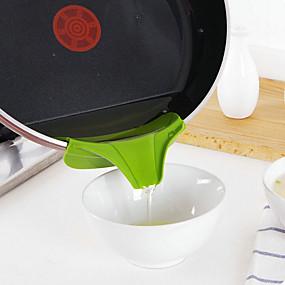ieftine Ustensile de Gătit-silicon pâlnie se toarnă gura de alunecare pe mizerie scurgere bucătărie oală rotund deflector bucata de bucătărie unelte