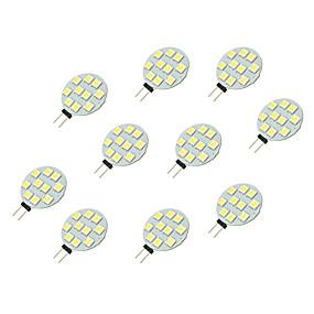 abordables Luces LED de Doble Pin-10pcs 2 W Luces LED de Doble Pin 160 lm G4 10 Cuentas LED SMD 5050 Blanco 12 V / 10 piezas