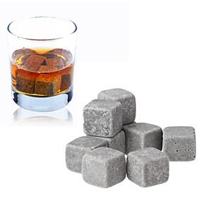 ieftine Tirbușoane-9pcs set de pietre de whisky gheață de cuburi de șampanie vin roșu bar