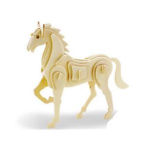 economico Modellini e costruzioni giocattolo-Puzzle 3D Puzzle Modellini di legno Dinosauro Velivolo Cavallo Fai da te di legno Classico Unisex Giocattoli Regalo