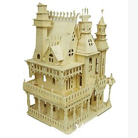 olcso Játékok & hobbi-3D építőjátékok Fejtörő Modeli i makete Népszerű épület Ház DIY Fa Klasszikus Felnőttek Uniszex Játékok Ajándék
