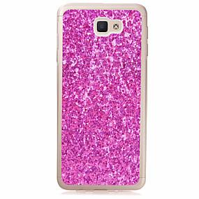 voordelige Galaxy J1 Hoesjes / covers-hoesje Voor Samsung Galaxy J7 (2016) / J5 (2016) / J3 (2016) Doorzichtig Achterkant Glitterglans Zacht TPU