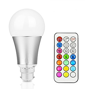 billige Lyspærer til pyntebelysning-1pc 12 W Smart LED-lampe 800 lm B22 E26 / E27 A60(A19) 1 LED Perler Integreret LED Dæmpbar Fjernstyret Dekorativ RGBW RGBWW 85-265 V / 1 stk. / RoHs