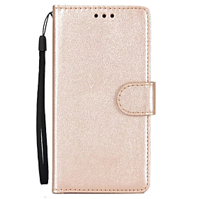 voordelige Huawei Honor hoesjes / covers-hoesje Voor Huawei P10 Plus / P10 Lite / P10 Portemonnee / Kaarthouder / met standaard Volledig hoesje Effen Hard PU-nahka