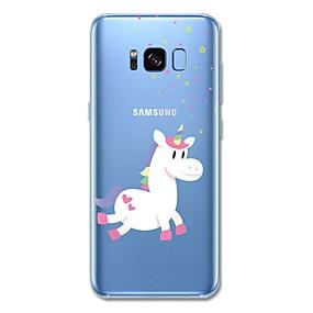 voordelige Galaxy S7 Edge Hoesjes / covers-hoesje Voor Apple S8 Plus / S8 Transparant Achterkant Eenhoorn / Cartoon / dier Zacht TPU voor S8 Plus / S8 / S7 edge