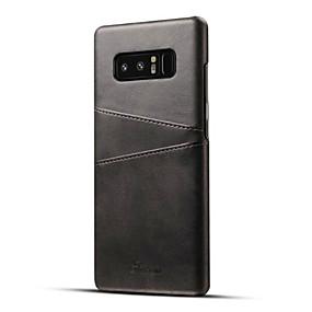 abordables Accessoires Samsung-Coque Pour Samsung Galaxy Note 8 Porte Carte Coque Couleur Pleine Dur faux cuir pour Note 8