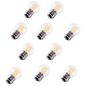 Χαμηλού Κόστους Λαμπτήρες LED με νήμα πυράκτωσης-10pcs 4 W LED Λάμπες Πυράκτωσης 360 lm E26 / E27 G45 4 LED χάντρες COB Διακοσμητικό Θερμό Λευκό Ψυχρό Λευκό 220-240 V / RoHs