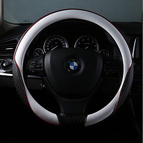 billige Rattet dækker-Ratovertræk til din bil Læder 38 cm Rød / Lyserød / Blå Til BMW Alle Modeller Alle år