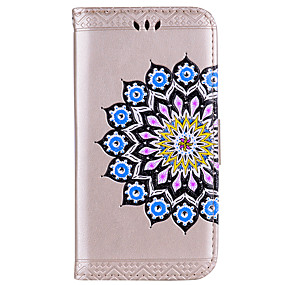 voordelige Galaxy J5(2017) Hoesjes / covers-hoesje Voor Samsung Galaxy J7 (2017) / J5 (2017) / J5 (2016) Portemonnee / Kaarthouder / Flip Volledig hoesje Mandala / Bloem Hard PU-nahka