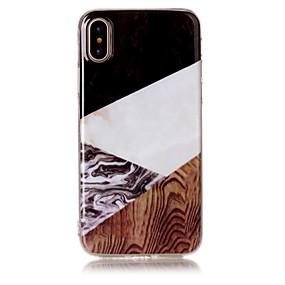 levne iPhone pouzdra-Carcasă Pro Apple iPhone X / iPhone 8 / iPhone 8 Plus IMD / Vzor Zadní kryt Textura dřeva / Mramor Měkké TPU pro iPhone X / iPhone 8 Plus / iPhone 8