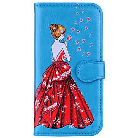 voordelige Galaxy S7 Edge Hoesjes / covers-hoesje Voor Samsung Galaxy S8 Plus / S8 / S7 edge Portemonnee / Flip / Reliëfopdruk Volledig hoesje Sexy dame / Paardebloem Hard PU-nahka
