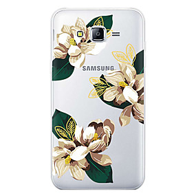 voordelige Galaxy J5 Hoesjes / covers-hoesje Voor Samsung Galaxy J7 (2017) / J7 (2016) / J7 Patroon Achterkant Bloem Zacht TPU