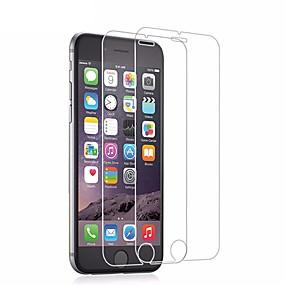 halpa iPhone 6s / 6 -suojakalvot-Näytönsuojat varten Apple iPhone 6s / iPhone 6 Karkaistu lasi 2 kpls Ruudun suojat / Näytönsuoja Teräväpiirto (HD) / 9H kovuus / 2,5D pyöristetty kulma