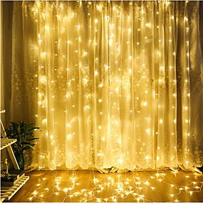 お買い得  ホーム&キッチン-4m ストリングライト 300 LED Dip LED 温白色 / クールホワイト / ブルー 装飾用 / 接続可 / クリスマス 220-240 V 1個 / IP65