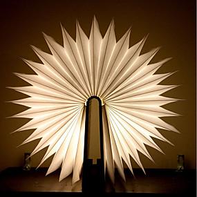 billige Nattlamper med LED-1pc Bok LED Night Light Varm Hvit Batterier drevet Foldbar Oppladbar Kreativ nyhet Dekorativt lys