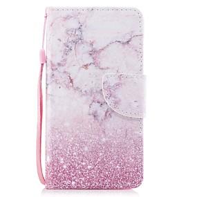 voordelige Galaxy J5(2017) Hoesjes / covers-hoesje Voor Samsung Galaxy J7 (2017) / J5 (2017) / J5 (2016) Portemonnee / Kaarthouder / met standaard Volledig hoesje Marmer Hard PU-nahka