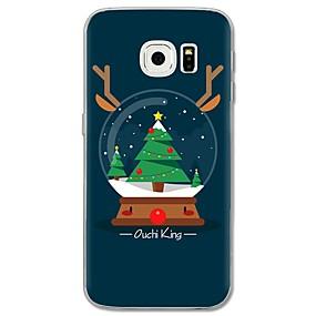 voordelige Galaxy S7 Edge Hoesjes / covers-hoesje Voor Samsung Galaxy S8 Plus / S8 / S7 edge Patroon Achterkant Boom / Kerstmis Zacht TPU