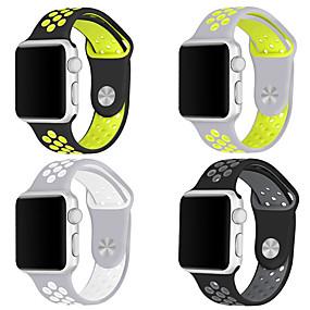 billige Mobiltelefonstilbehør-Urrem for Apple Watch Series 4/3/2/1 Apple Sportsrem Silikone Håndledsrem
