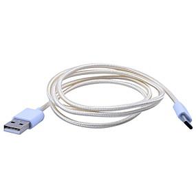 billige PC- og tablettilbehør-UC-021 USB 2.0 til USB 2.0 Type C Han - Han 1.0m (3ft) Flet