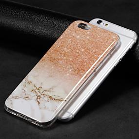 tanie Wyprzedaż-Kılıf Na Jabłko iPhone X / iPhone 8 IMD Osłona tylna Marmur Miękka TPU na iPhone X / iPhone 8 Plus / iPhone 8