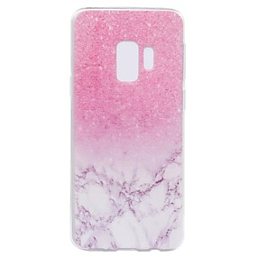 Недорогие Чехлы и кейсы для Galaxy S5 Mini-Кейс для Назначение SSamsung Galaxy S9 / S9 Plus / S8 Plus С узором Кейс на заднюю панель Мрамор Мягкий ТПУ