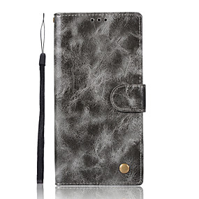 cheap Sony-Case For Sony Xperia XA Ultra / Sony / Sony Xperia XA Xperia XZ1 / Xperia XA1 Wallet / Card Holder / with Stand Full Body Cases Solid Colored Hard PU Leather for Xperia XZ1 Compact / Sony Xperia XZ1