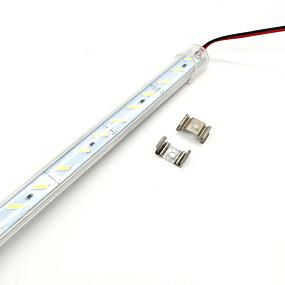 billige Lysstænger-zdm 50cm 36 x 8520 super lyse smd leds hård lampe gennemsigtig maske fortykket aluminium shell dc12 v