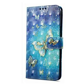voordelige Galaxy A3(2016) Hoesjes / covers-hoesje Voor Samsung Galaxy A8 2018 / A8+ 2018 / A5(2016) Portemonnee / Kaarthouder / met standaard Volledig hoesje Vlinder Hard PU-nahka