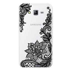 voordelige Galaxy J7 Hoesjes / covers-hoesje Voor Samsung Galaxy J7 (2017) / J7 (2016) / J7 Patroon Achterkant Lace Printing Zacht TPU