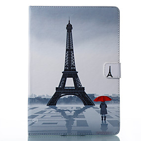 cheap Clearance-Case For Apple iPad Pro 10.5 / iPad (2017) Wallet / Card Holder / with Stand Full Body Cases Eiffel Tower Hard PU Leather for iPad Air / iPad 4/3/2 / iPad Pro 10.5