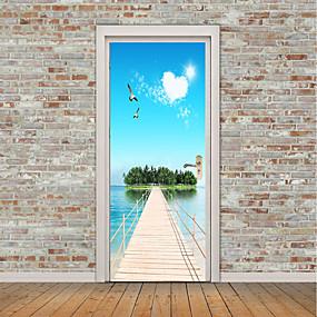 ieftine Casă & Grădină-Peisaj Natură moartă Perete Postituri Autocolante perete plane 3D Acțibilduri de Perete Autocolante de Perete Decorative Autocolante foto