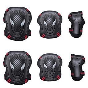billige Træning og fitness-Knæbeskyttere, albuebeskyttere og håndledsbeskyttere for Inlinere / Hoverboard / Rullekøjter Åndbart / Beskyttende 6 pak