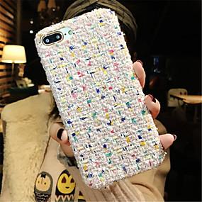 olcso iPhone tokok-Case Kompatibilitás Apple iPhone X / iPhone 7 Plus Minta Fekete tok Vonalak / hullámok Puha Textil mert iPhone X / iPhone 8 Plus / iPhone 8