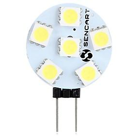 Χαμηλού Κόστους Φωτιστικά LED δυο ακίδων-SENCART 1pc 1.5 W LED Φώτα με 2 pin 60-80 lm G4 T 6 LED χάντρες SMD 5050 Διακοσμητικό Θερμό Λευκό Άσπρο 12 V
