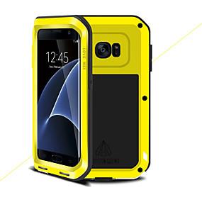 halpa Galaxy S -sarjan kotelot / kuoret-Etui Käyttötarkoitus Samsung Galaxy S7 edge Iskunkestävä Suojakuori Yhtenäinen väri Kova Metalli varten S7 edge