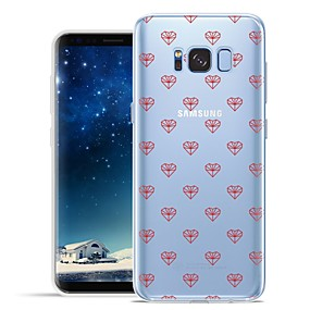 voordelige Galaxy S7 Edge Hoesjes / covers-hoesje Voor Samsung Galaxy S8 Plus / S8 / S7 edge Patroon Achterkant Tegel / Hart Zacht TPU