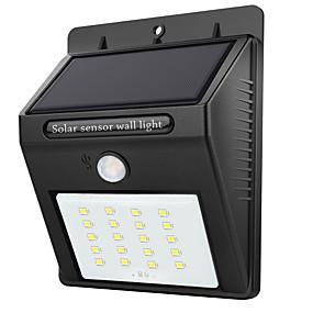 ieftine Becuri Solare LED-1 buc 2 W Lumini Solare LED Rezistent la apă / Senzor cu Infraroșii / Controlul luminii Alb 3.7 V Lumina Exterior 20 LED-uri de margele