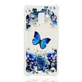 voordelige Galaxy A7(2016) Hoesjes / covers-hoesje Voor Samsung Galaxy A3 (2017) / A5 (2017) / A7 (2017) Schokbestendig / Patroon Achterkant Vlinder Zacht TPU