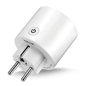 abordables Ofertas Diarias-waza smart plug (eu) mini outlet compatible con amazon alexa y google assistant, wifi habilitado con control remoto smart socket con función de temporizador, no se requiere hub