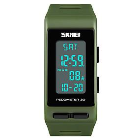 33e5a236c2c baratos Relógios Infantis-SKMEI Mulheres Relógio Esportivo Japanês Digital  Couro PU Acolchoado Preta   Azul