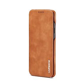 halpa Galaxy S -sarjan kotelot / kuoret-Etui Käyttötarkoitus Samsung Galaxy S9 Plus / S9 Korttikotelo / Tuella / Flip Suojakuori Yhtenäinen Kova aitoa nahkaa varten S9 / S9 Plus / S8 Plus
