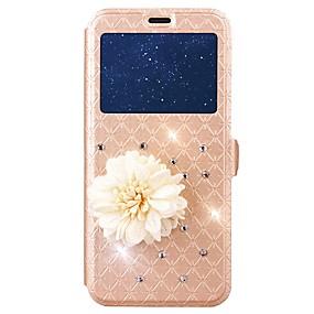 voordelige Galaxy J3(2017) Hoesjes / covers-hoesje Voor Samsung Galaxy J7 (2017) / J5 (2017) / J3 (2017) Kaarthouder / Strass / met standaard Volledig hoesje Geometrisch patroon Hard PU-nahka