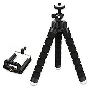 billige utendørs trening-fleksibel svamp stativ mini telefonholder holder 18mm 3 seksjoner for iphone smartphone samsung xiaomi huawei mobiltelefon